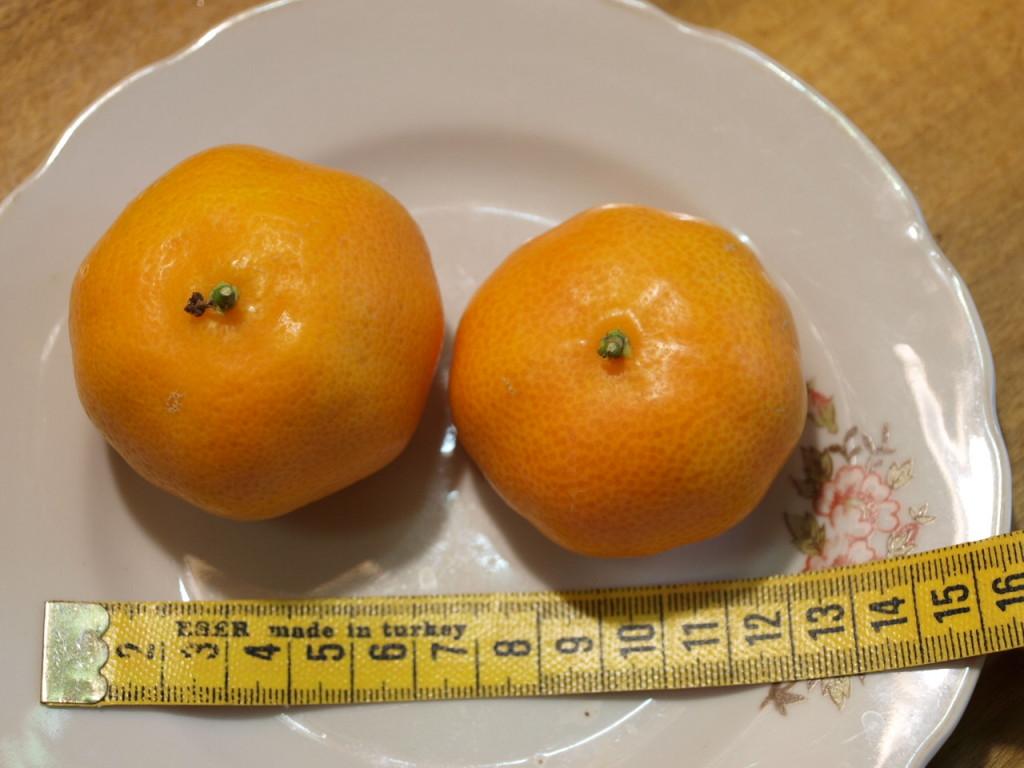 Размер клементинчиков